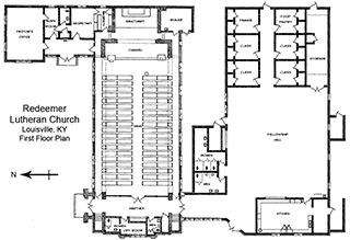 Church Tour Property Overview First Floor Plan