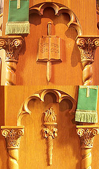 Pulpit and Lecturn Carvings